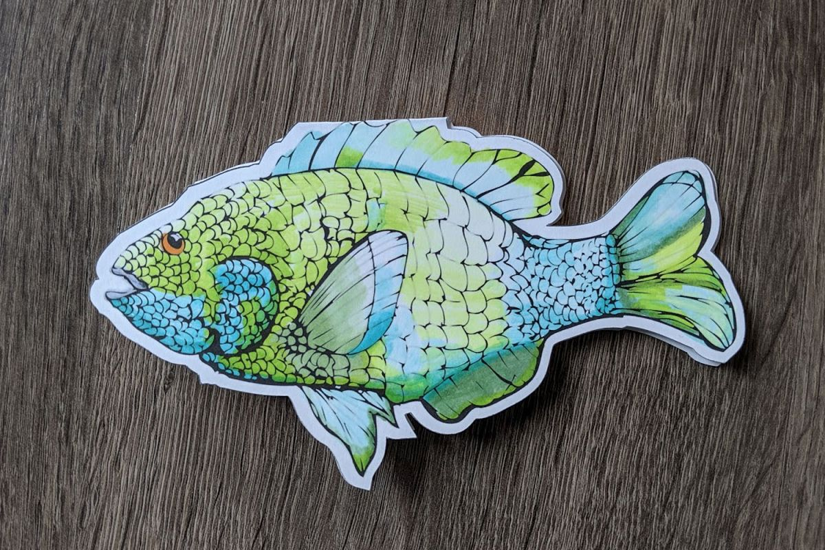 Sunfish cut file, with this file you can print color and cut example image 1