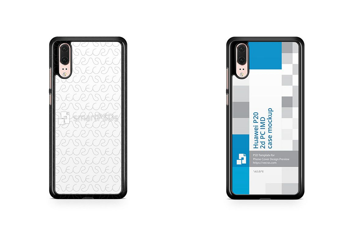 new product ff663 3062e Huawei P20 2d PC Colored Case Design Mockup 2018