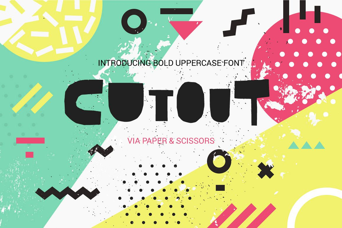 Cutout - bold uppercase font example image 1