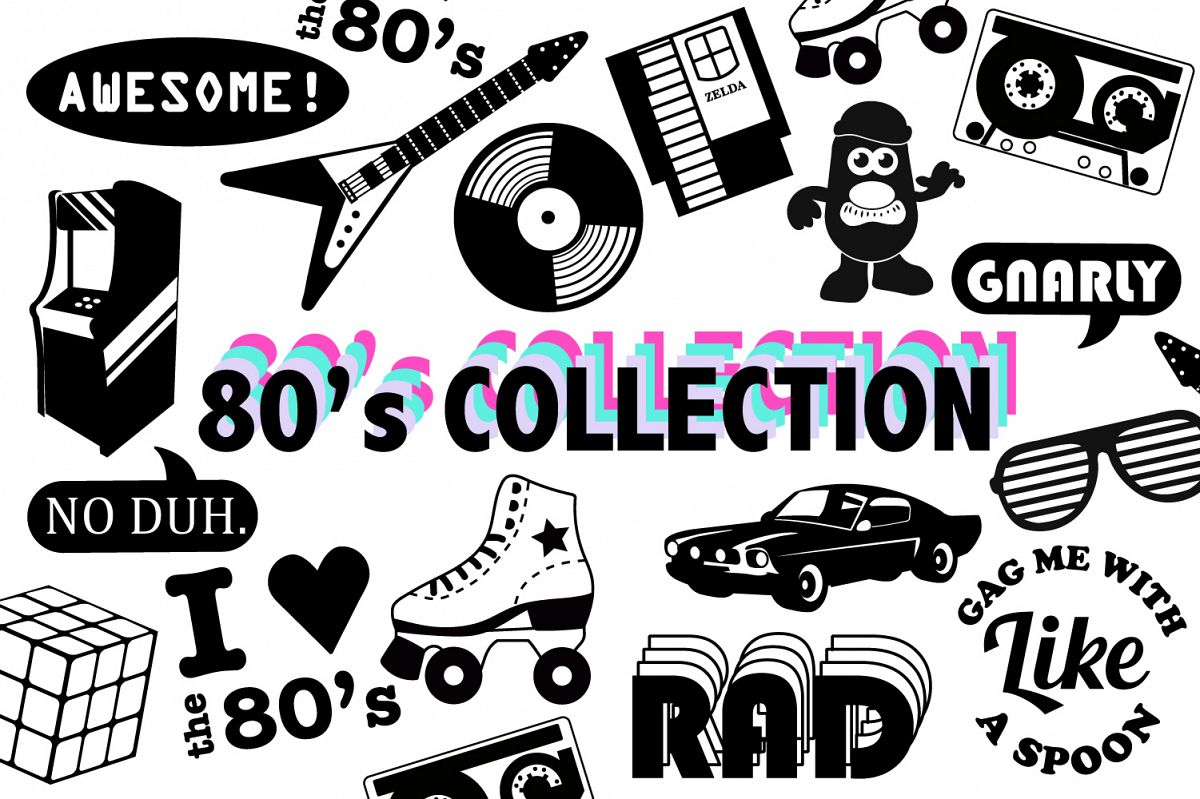 80s SVG Collection example image 1