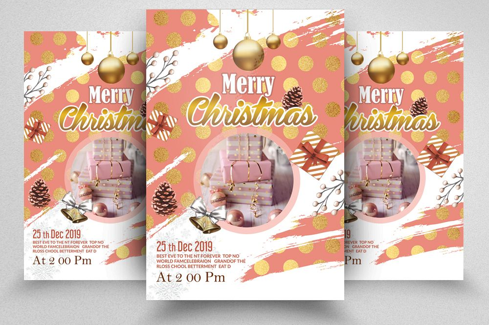 Christmas Greeting Flyer Template example image 1