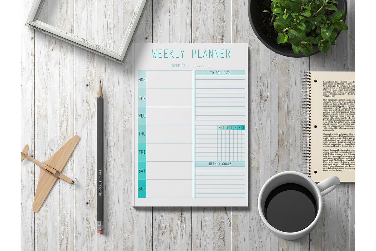 Weekly Planner Printable, Digital Planner, Planner Pages example image 1