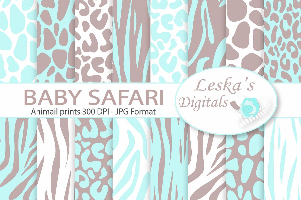 Animal Prints - Baby Blue Safari example image 1