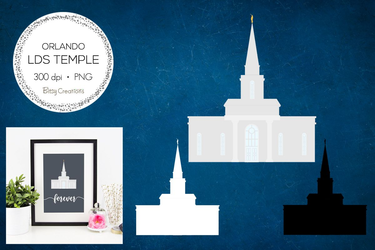 Orlando Florida LDS Temple Clipart example image 1