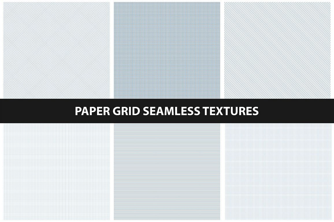 Paper grid textures - seamless. example image 1