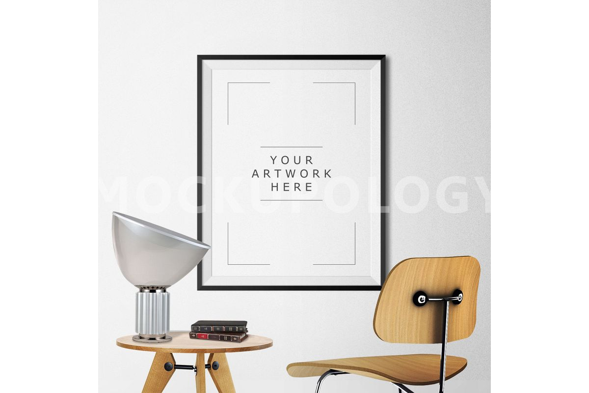 8x10 Vertical Black Frame Mockup, Poster Mockup, Styled Mockup ...