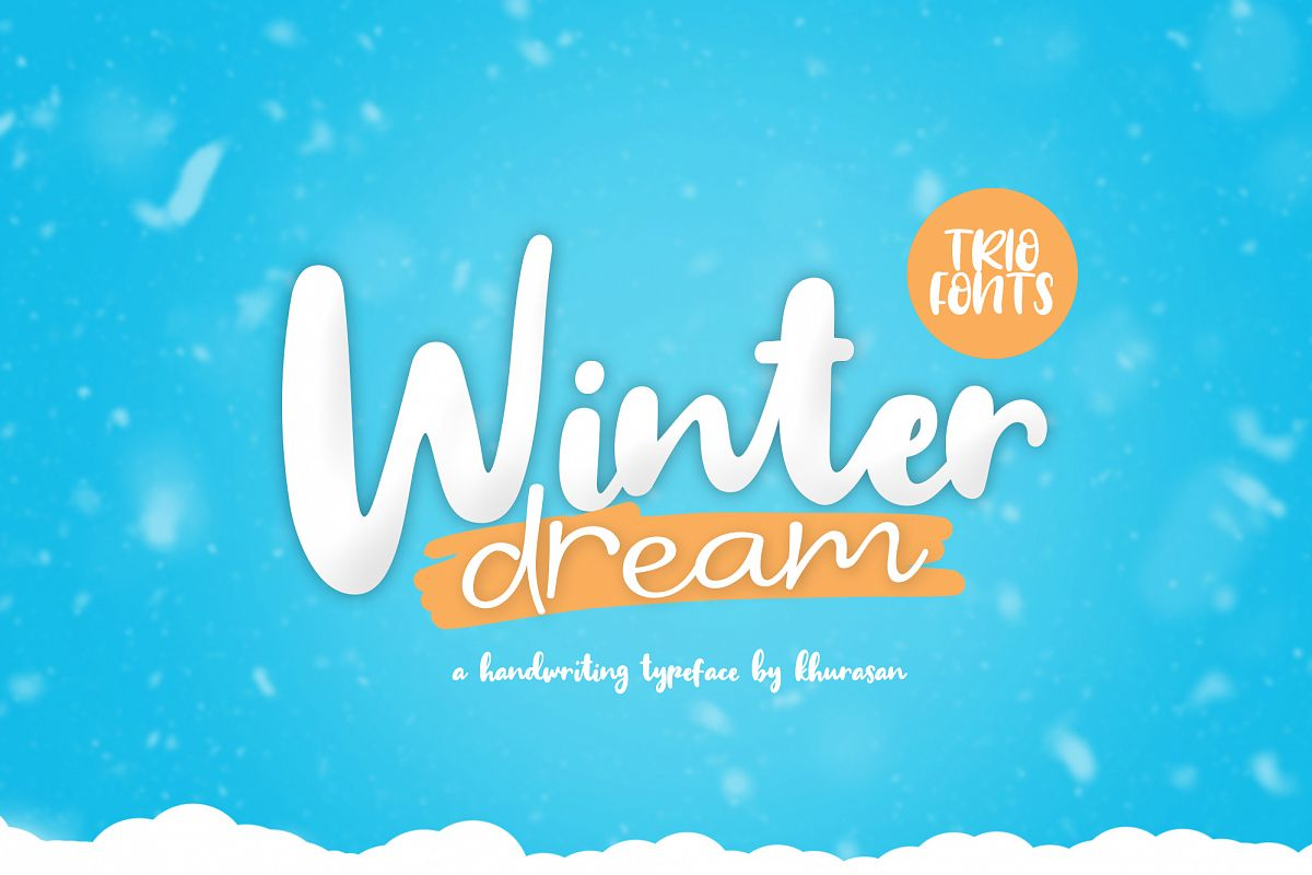 Winter Dream Trio Font example image 1