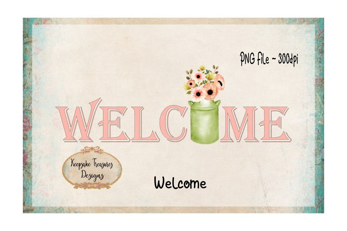 Welcome Sublimation PNG example image 1