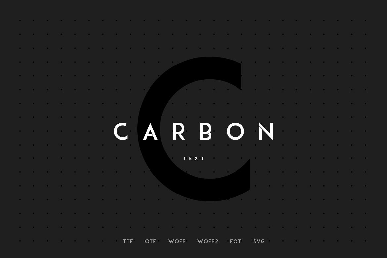 Carbon - Modern WebFont example image 1
