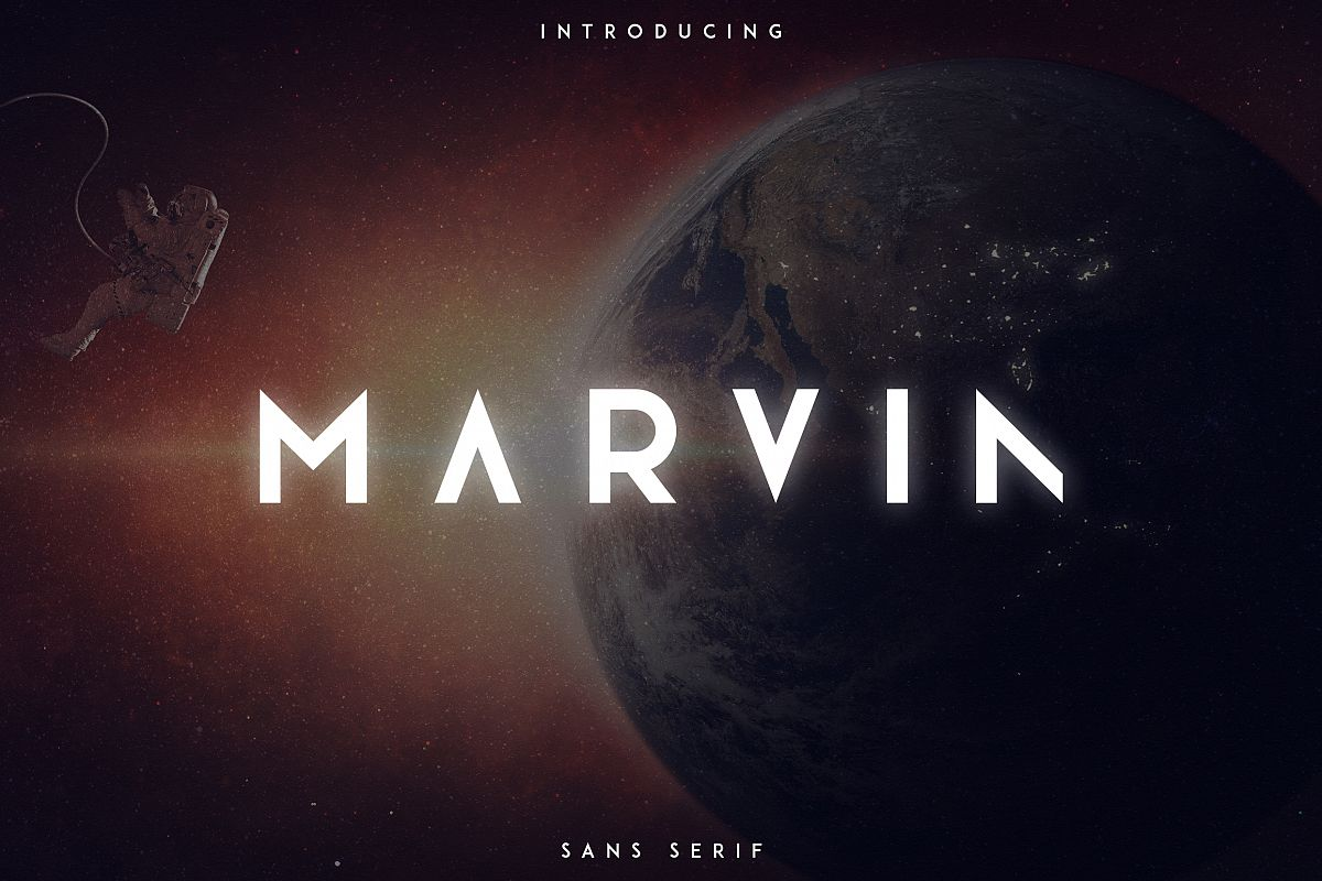 Marvin - 3 font styles example image 1