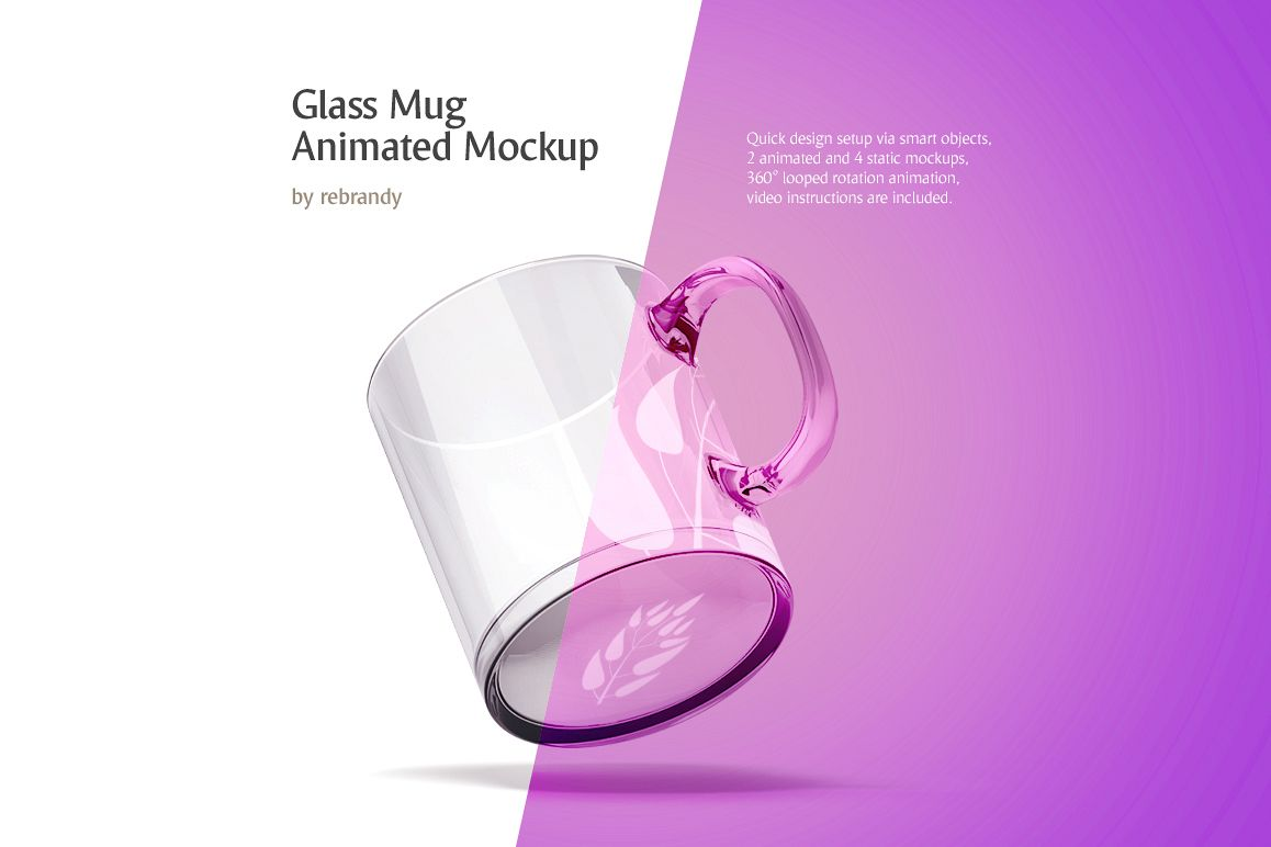 Glass Mug Animated Mockup example image 1