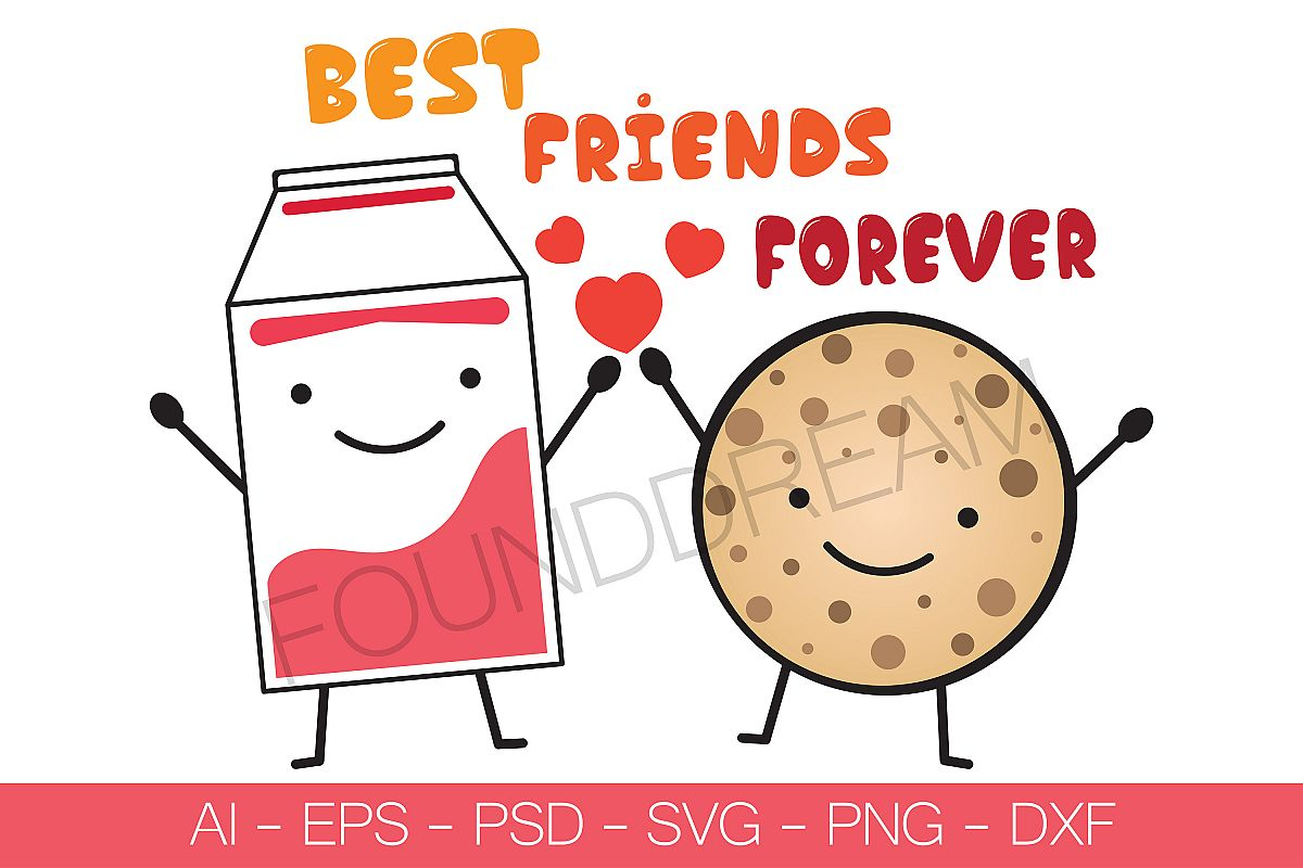 Best Friends Forever | Vector File example image 1