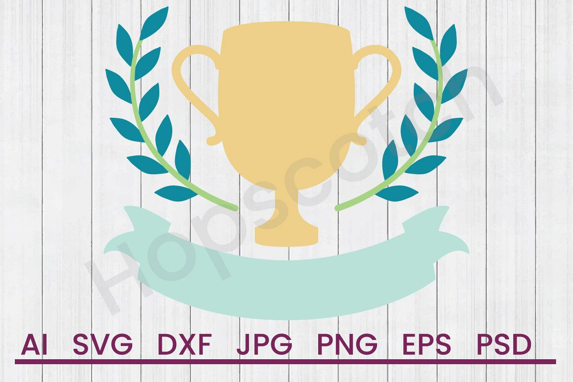 Trophy SVG, DXF File, Cuttatable File example image 1