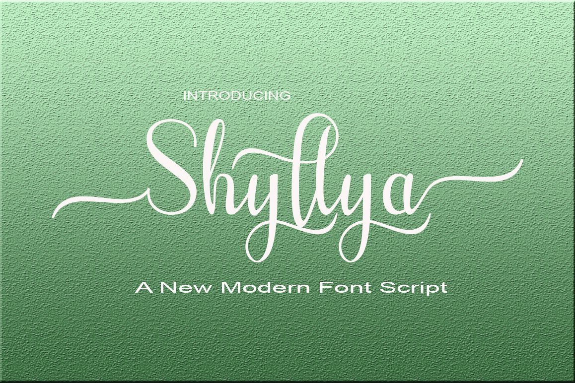 Shyllya Script example image 1