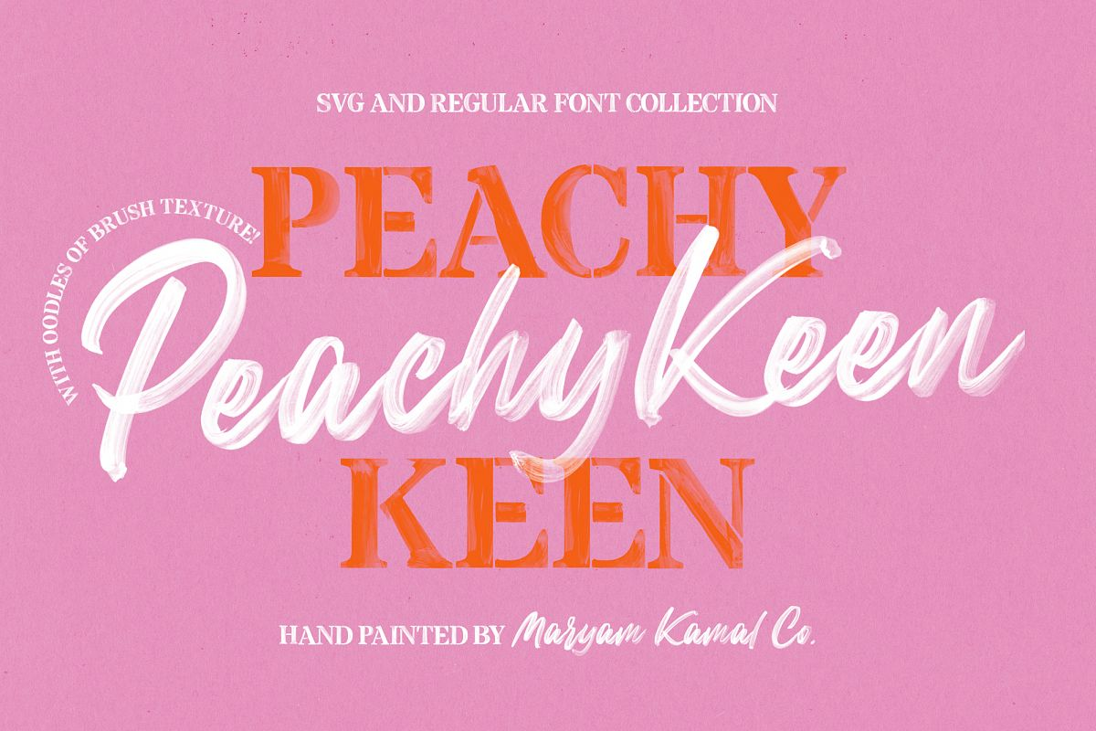Peachy Keen Font Collection example image 1
