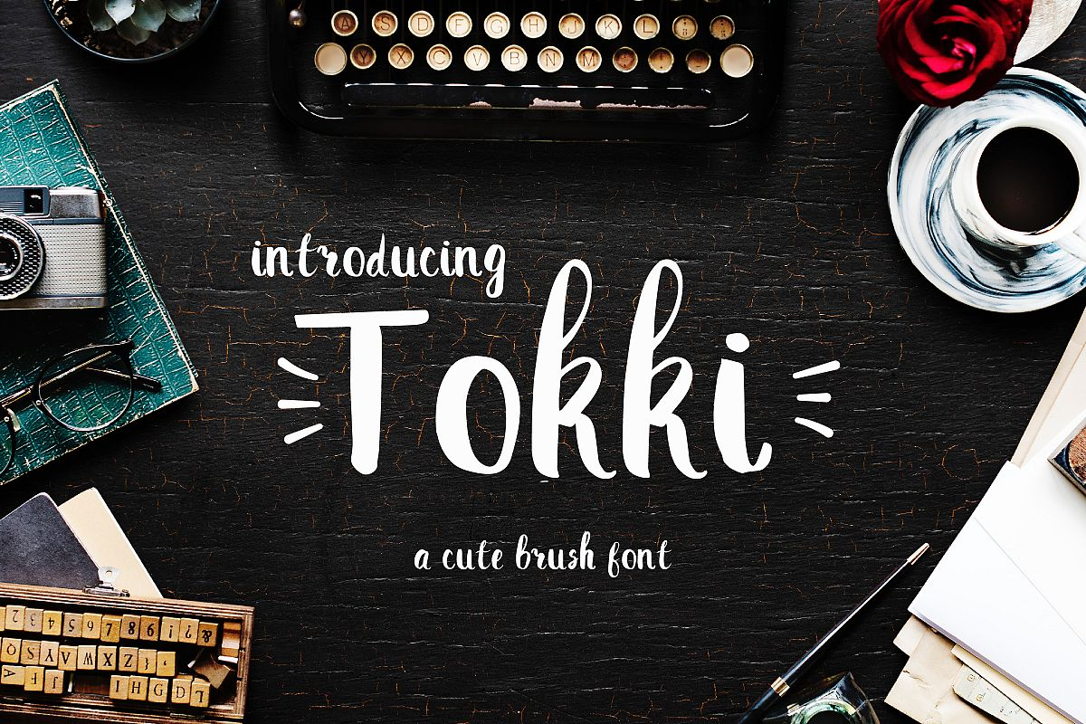 TOKKI Cute brush font example image 1