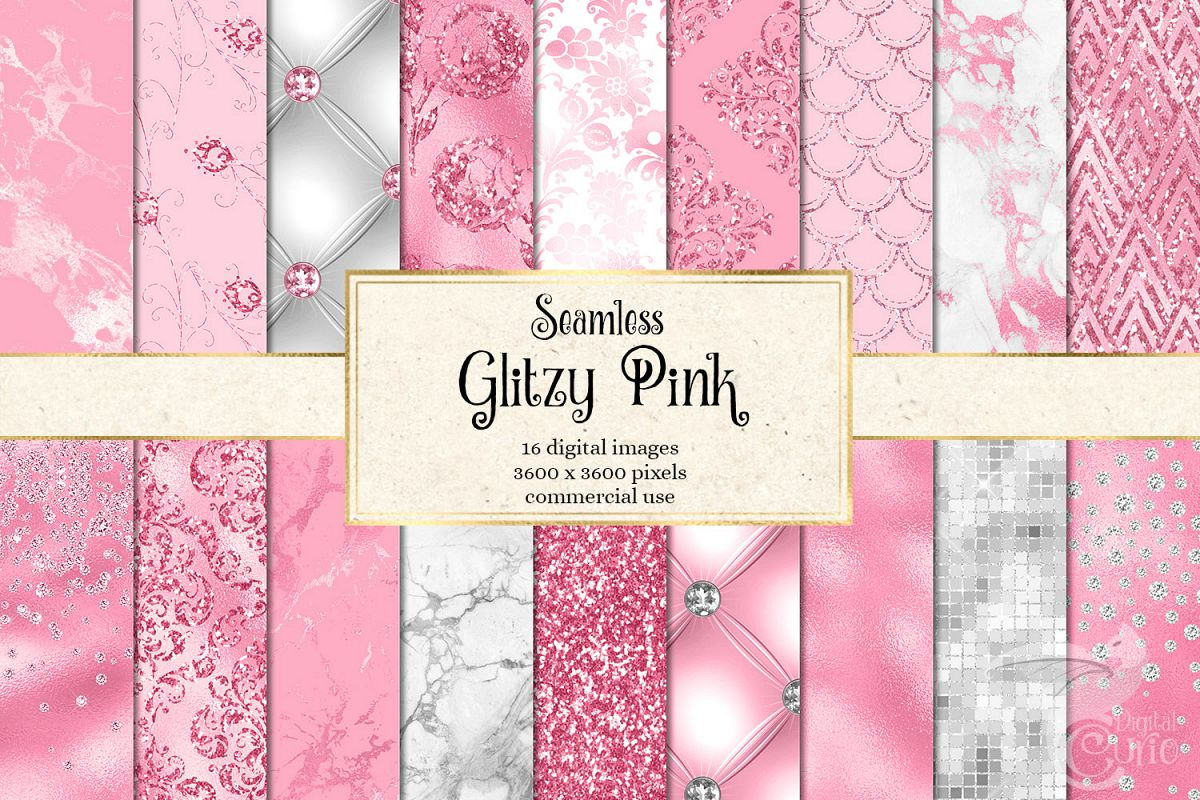Glitzy Pink Digital Paper example image 1