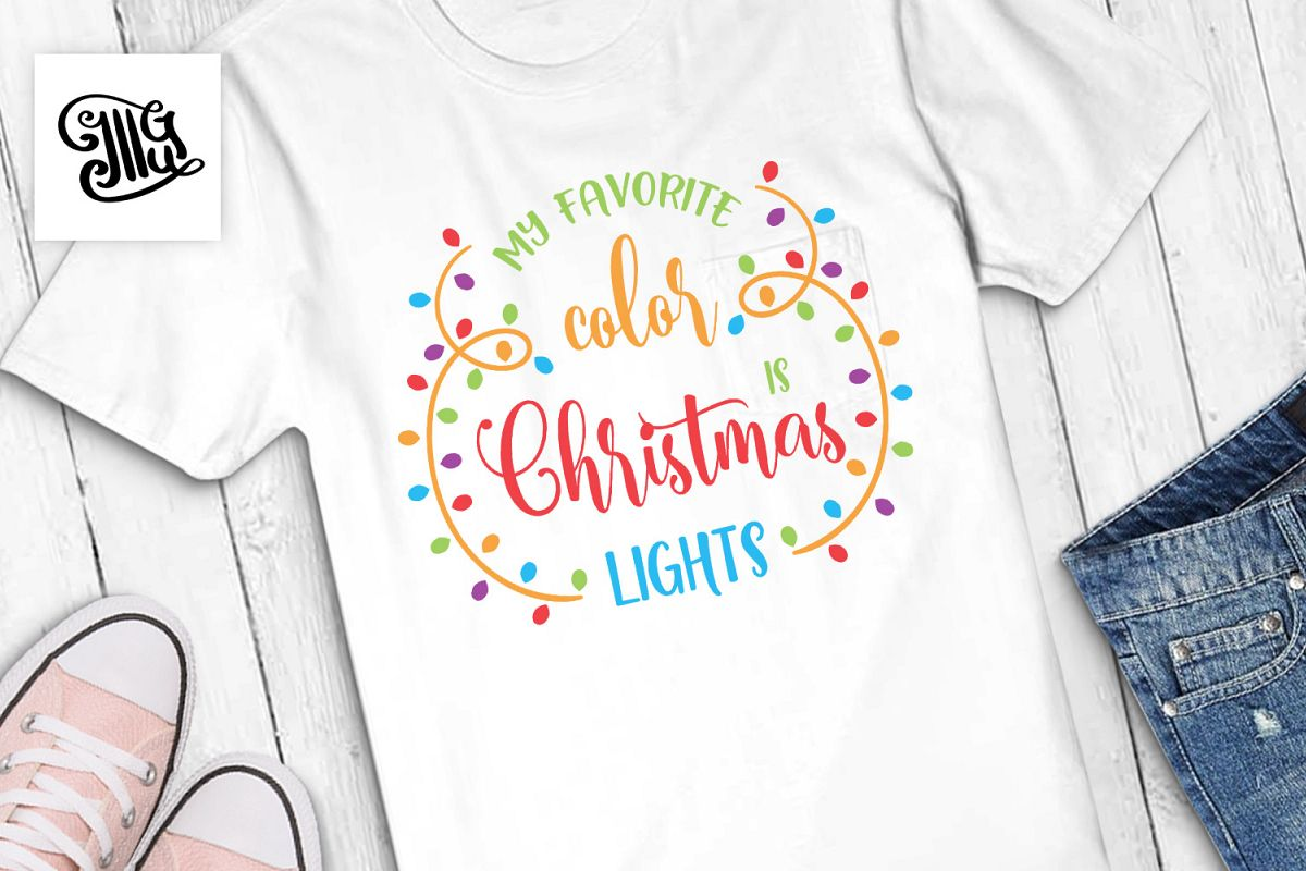 My favorite color is Christmas lights example image 1