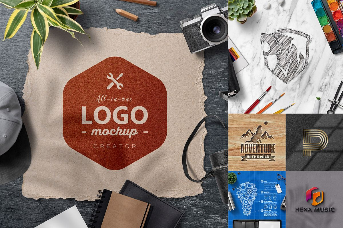All-In-One Logo Mockup Creator example image 1
