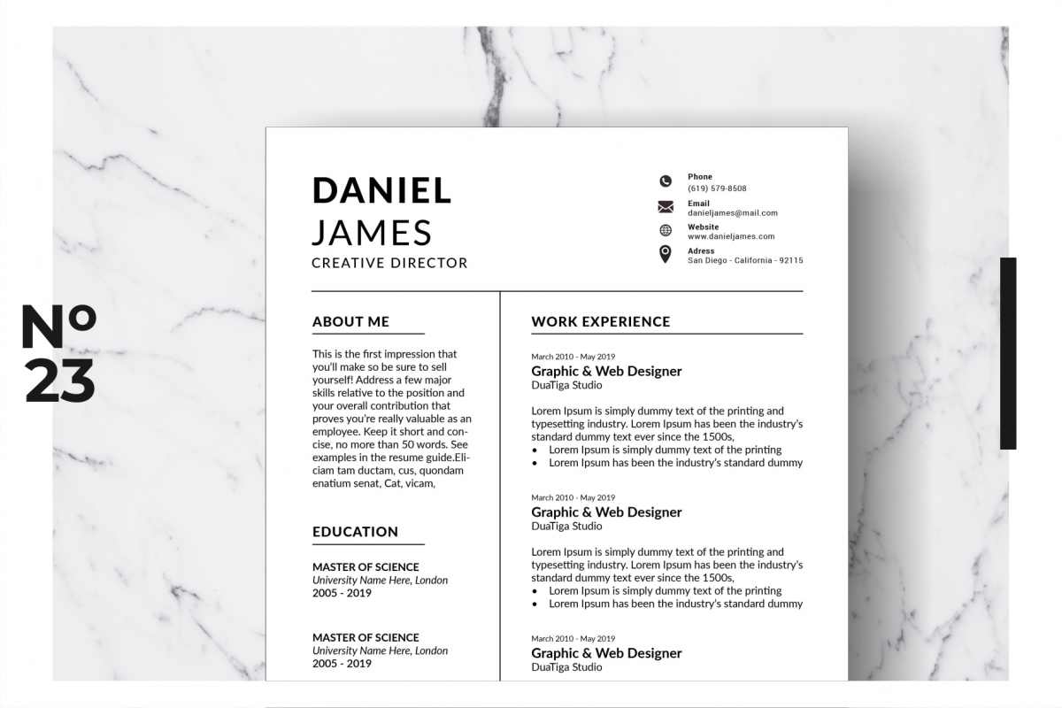 Resume Template Vol. 11 example image 1