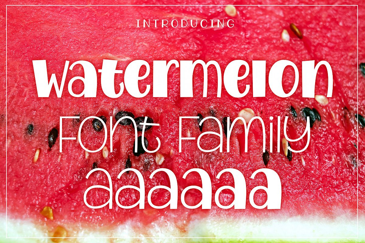 Watermelon Font Family example image 1