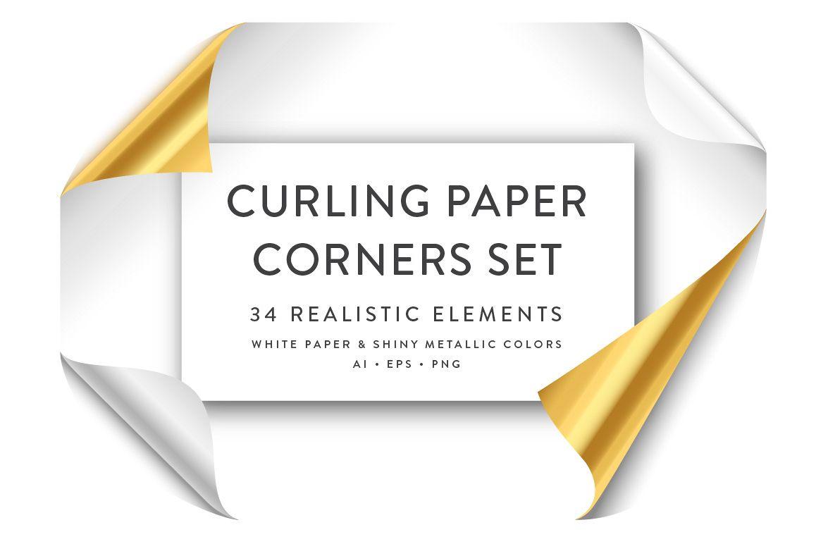 Curling Paper Corner Folds Set example image 1