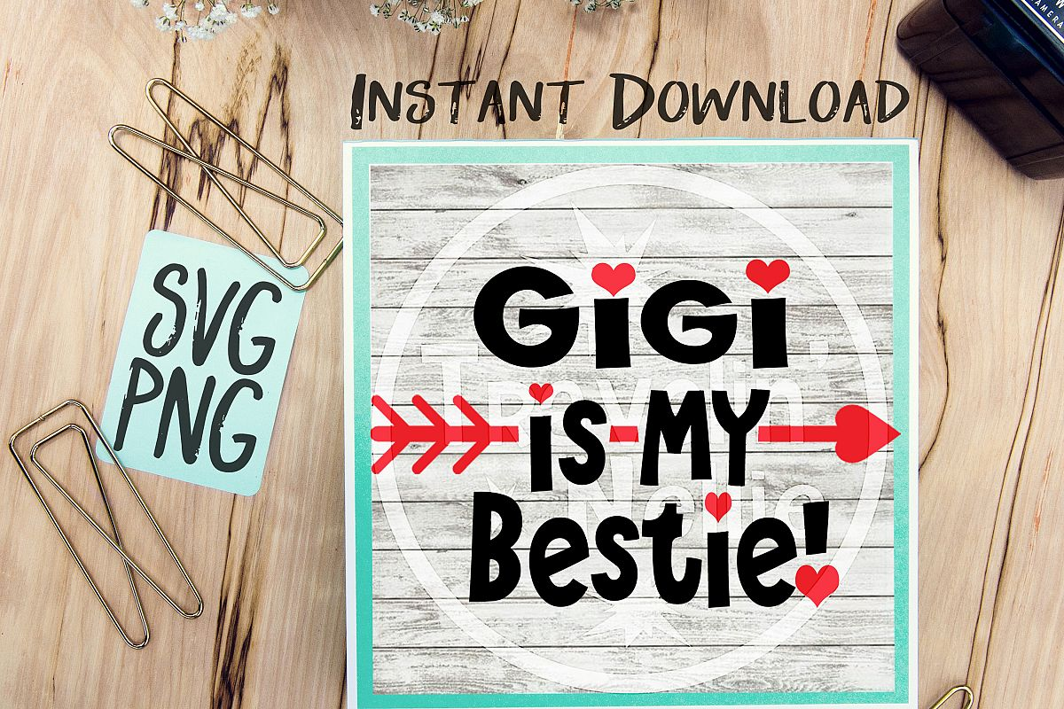 Auntie Is My Bestie SVG PNG Image Design for Cut Machines Print DIY Design Brother Cricut Cameo Cutout  example image 1
