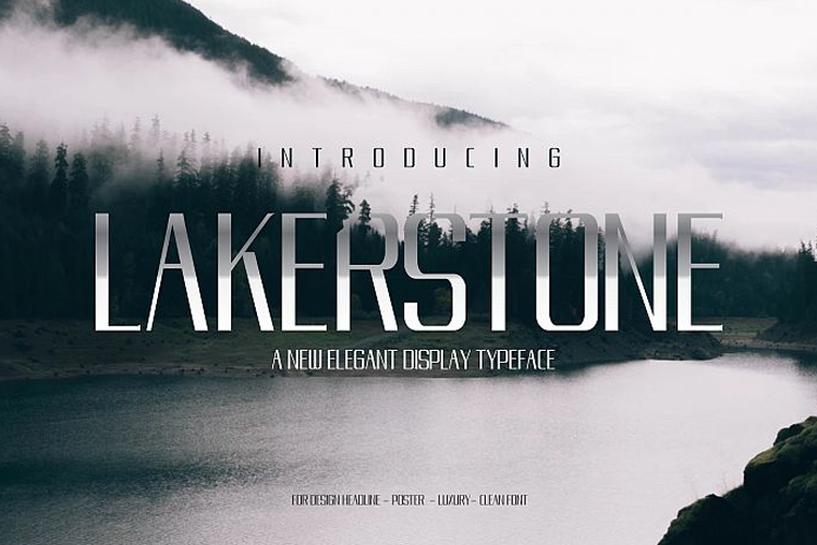 LAKERSTONE - A LUXURY AND ELEGANT CLEAN TYPEFACE example image 1