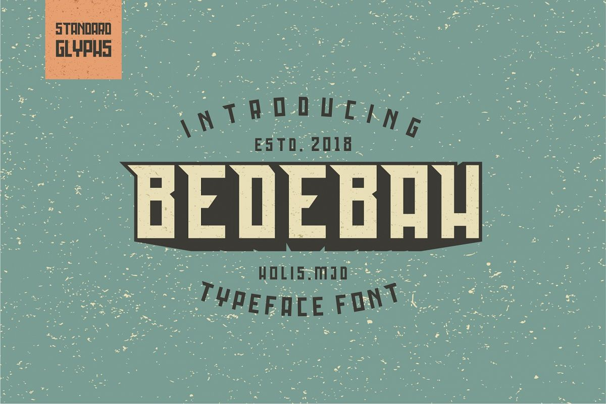 Bedebah Typeface example image 1