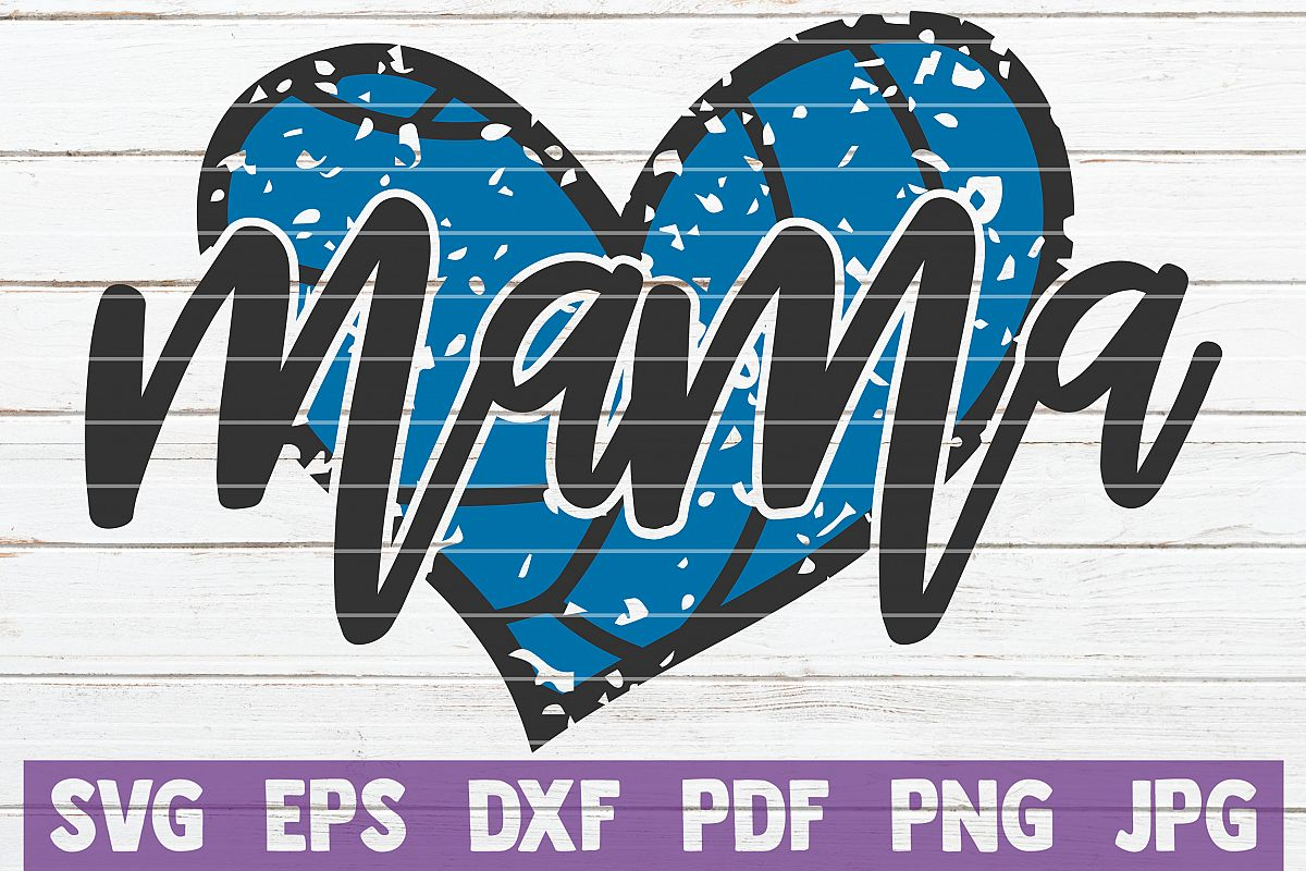 Volleyball Mama SVG Cut File | commercial use example image 1