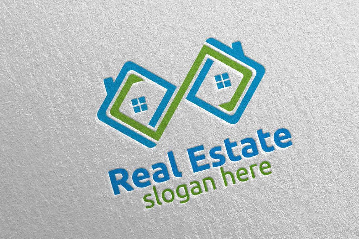Real Estate Infinity Logo Design 38 example image 1