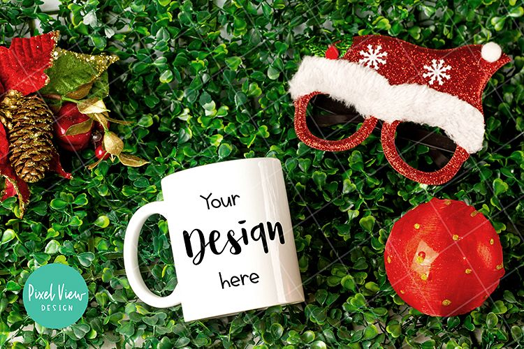 Single At Christmas.Dye Sublimation Mug Mock Up Single View I Christmas