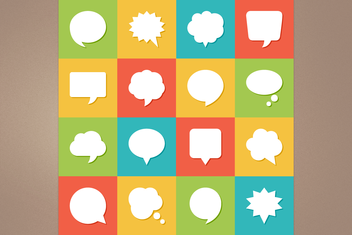 Speech Bubbles Icons example image 1