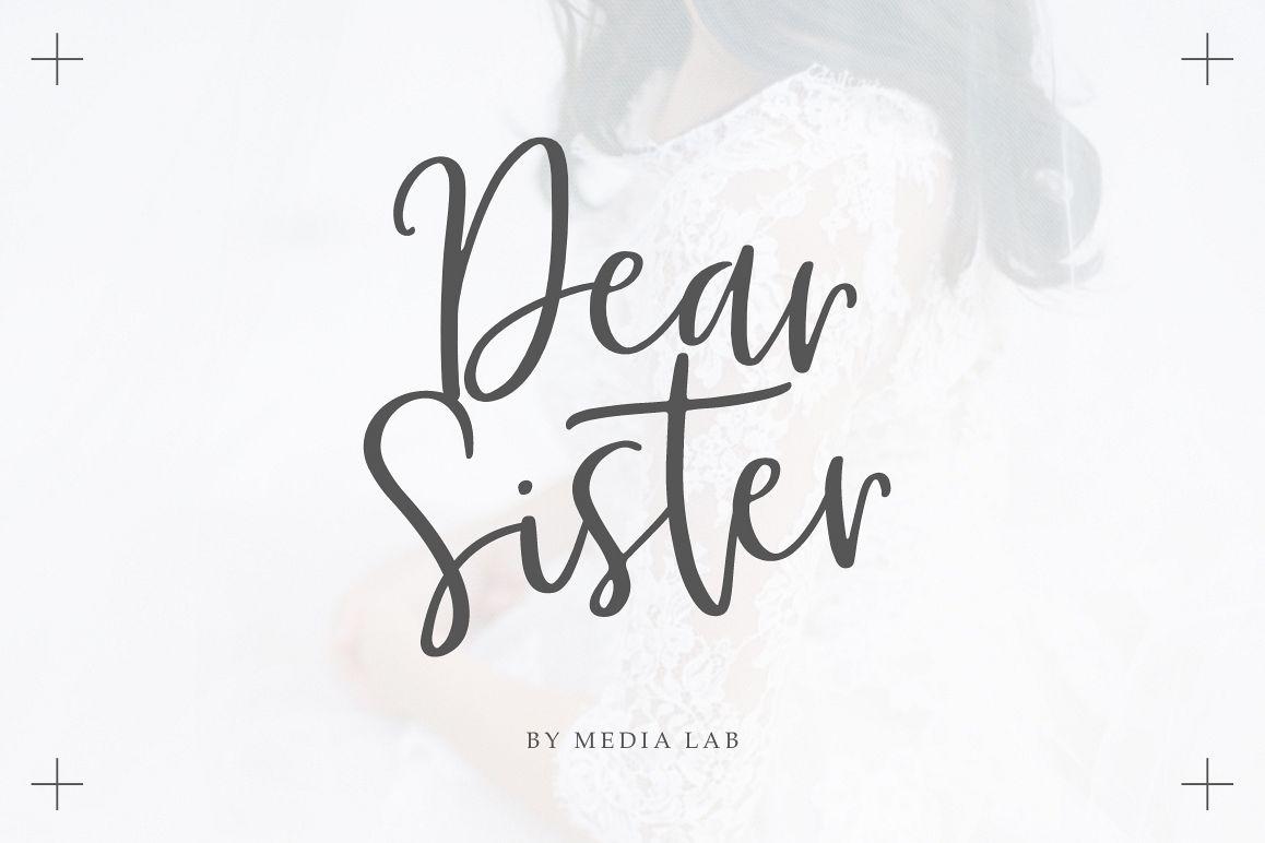 Dear Sister Luxury Script example image 1