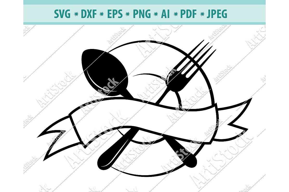 Restaurant Svg, Dinner Clipart, Kitchen Svg, Dxf, Png, Eps example image 1
