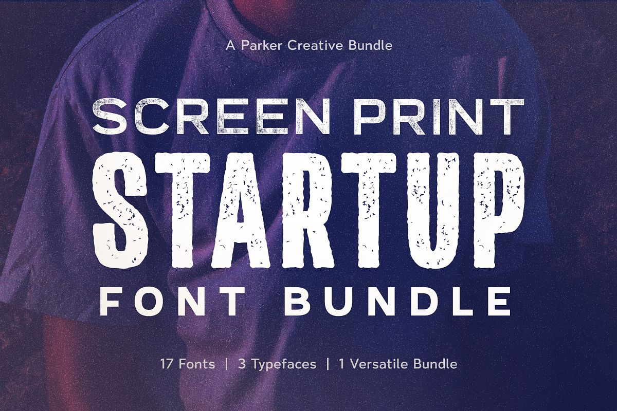Screen Print Startup Fonts Bundle example image 1