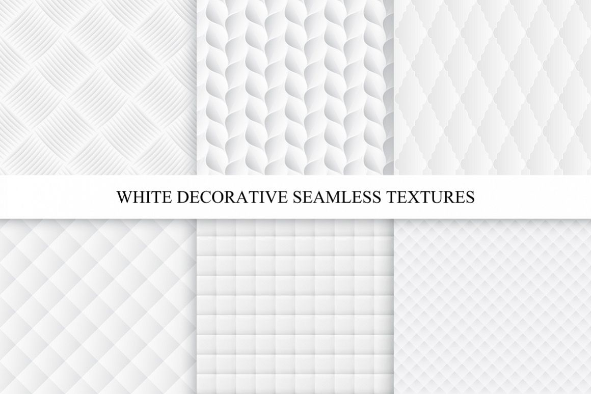 Decorative white soft textures set example image 1