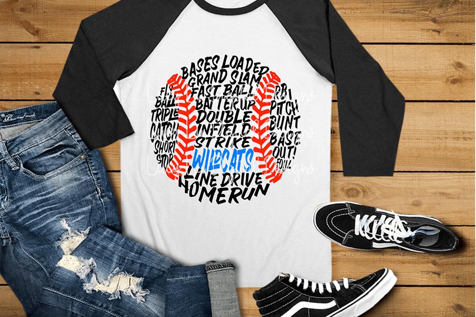Messy Baseball Wildcats example image 1