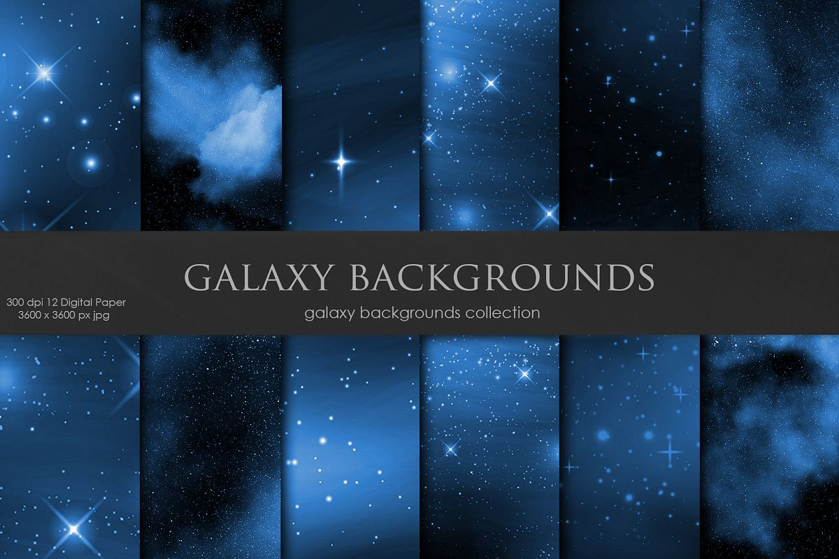 Galaxy, Space Navy Blue Backgrounds example image 1