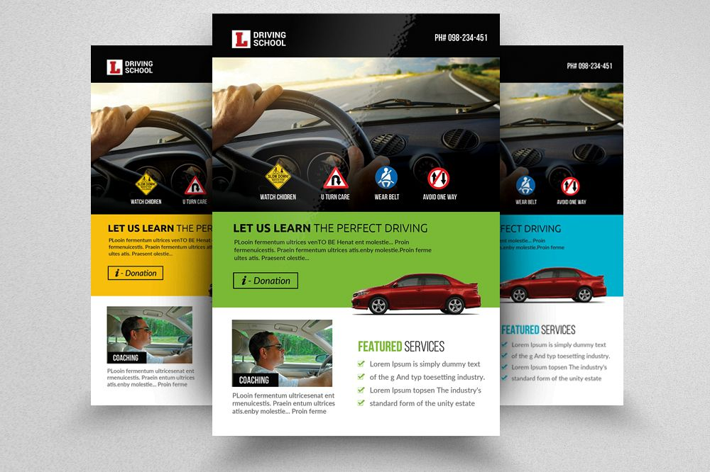 Driving School Flyer  example image 1