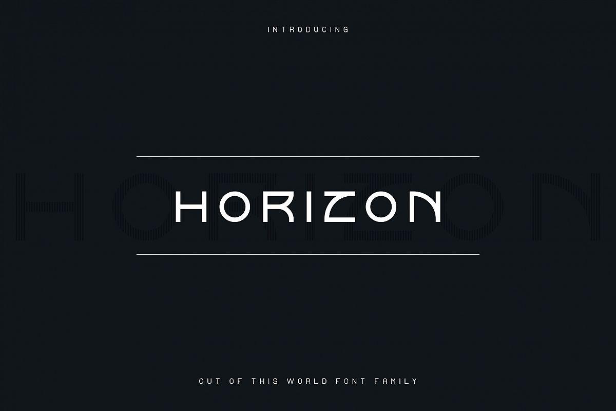Horizon font family example image 1