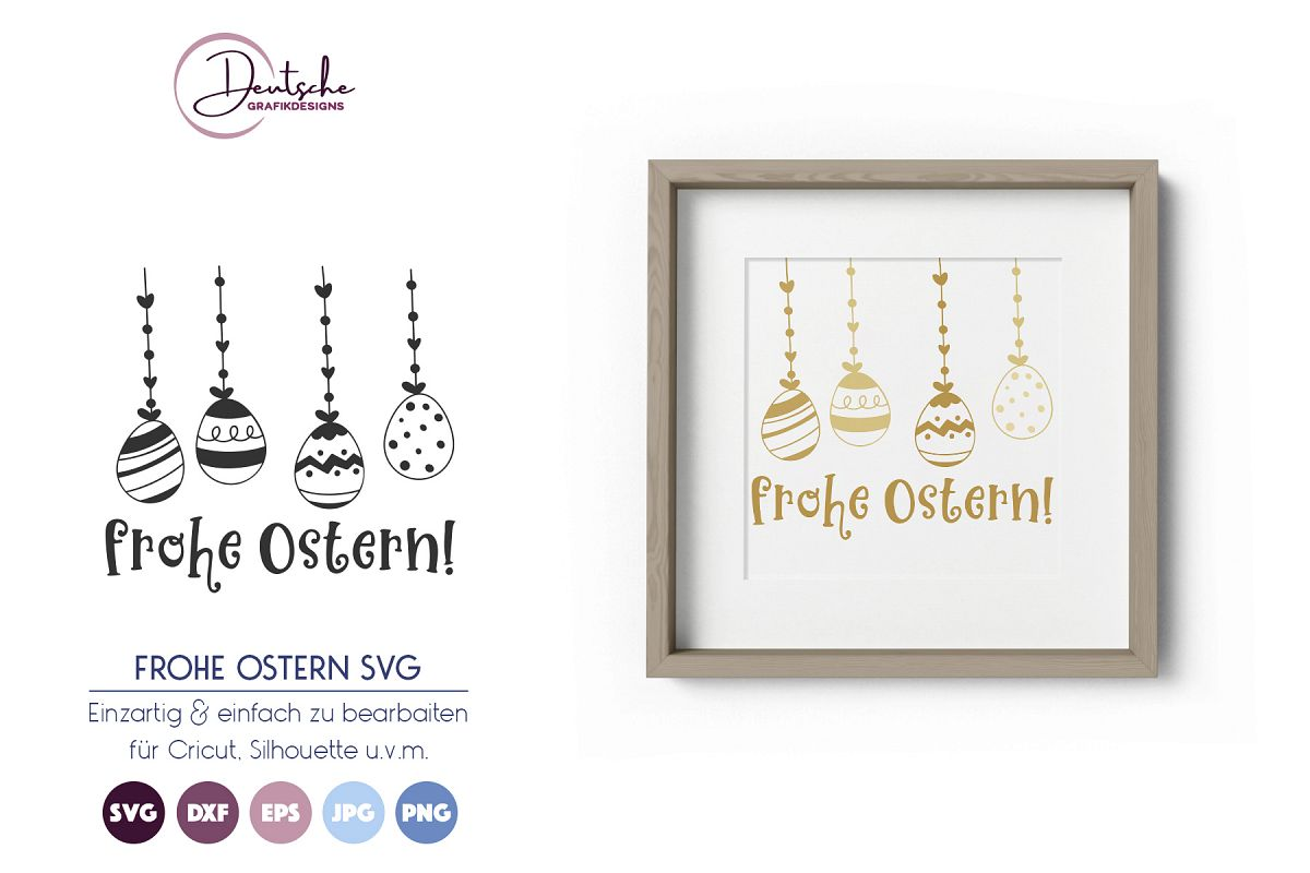 Frohe Ostern SVG |Ostereier example image 1