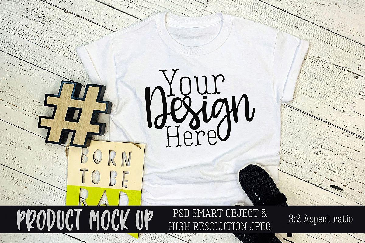 Kids t-shirt Craft mock up | PSD & JPEG example image 1