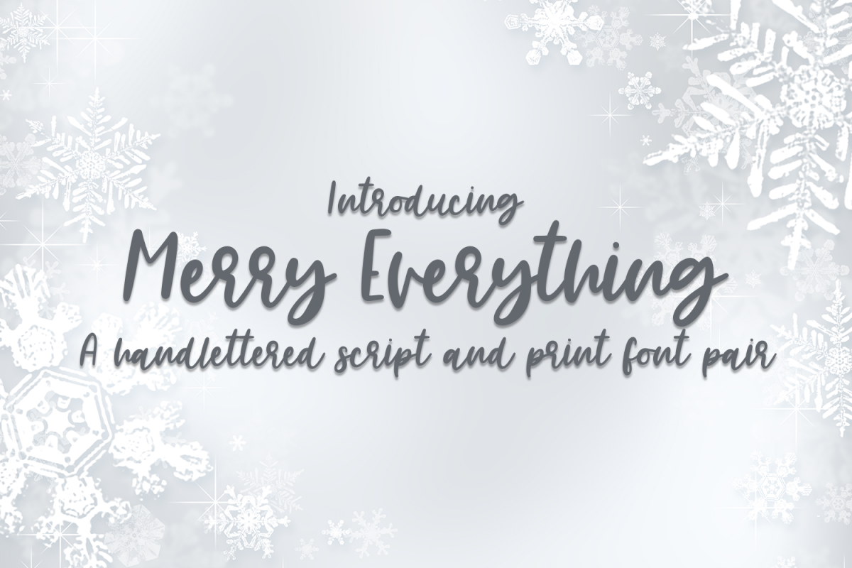 Merry Everything - A Handlettered Font Pair example image 1