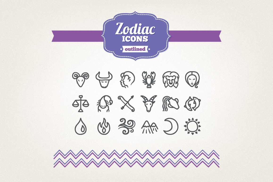 Hand Drawn Zodiac Icons example image 1