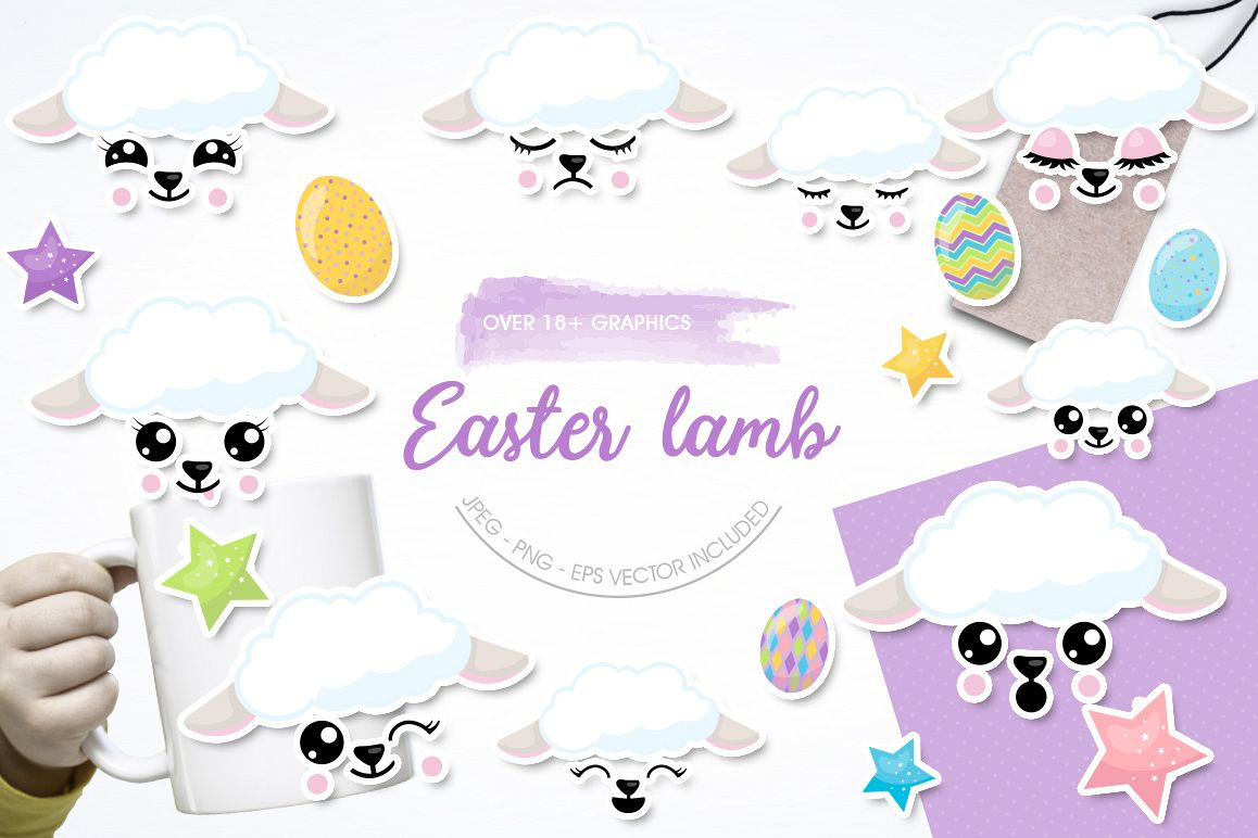 Easter Lamb graphic and illustrations example image 1