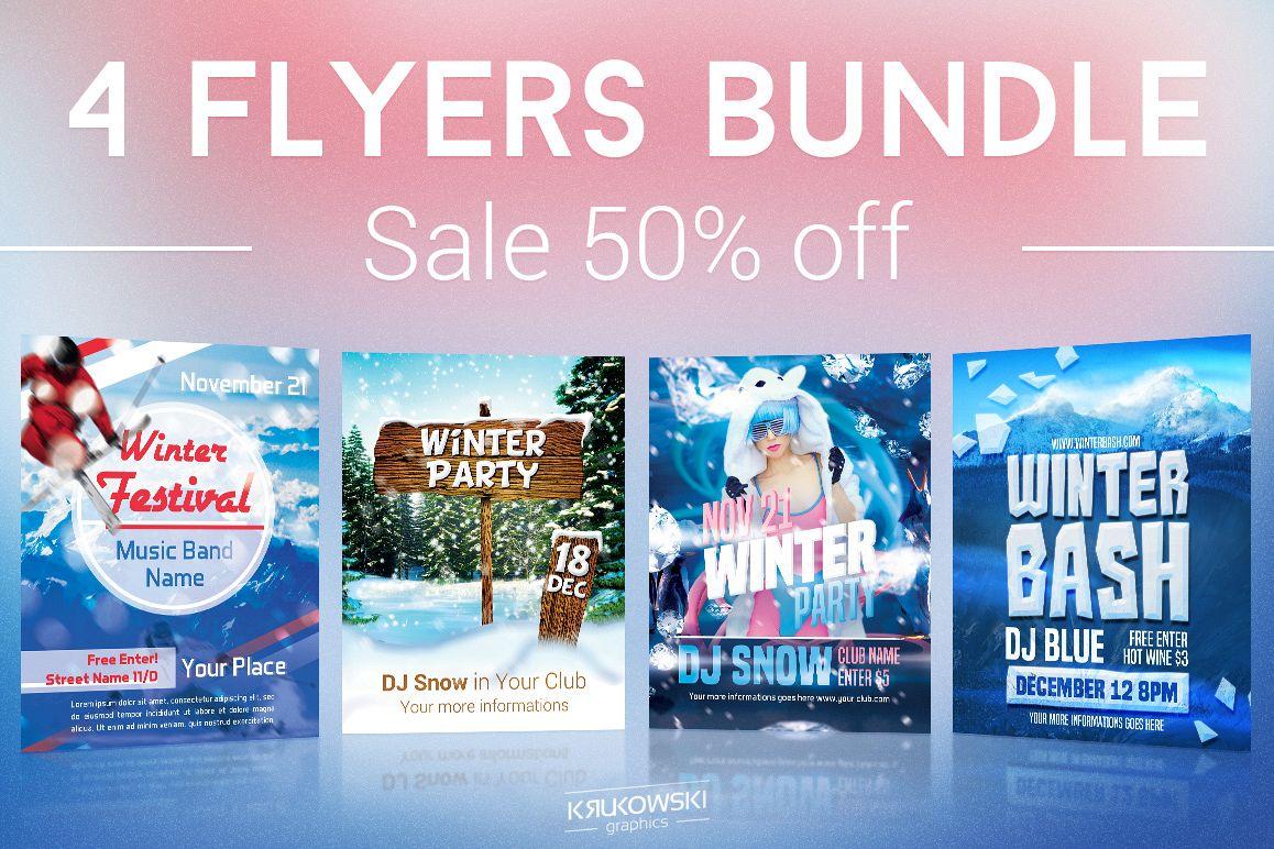 Winter Flyers Bundle example image 1