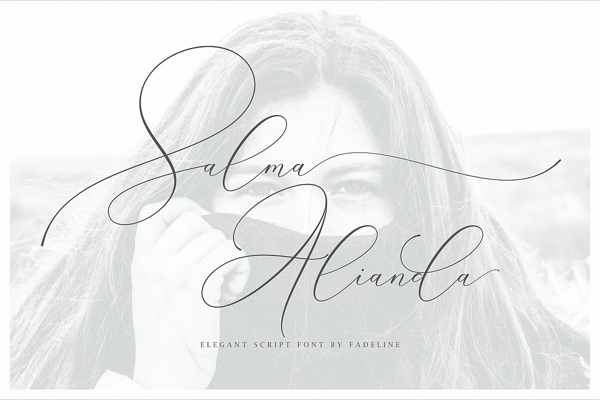 Salma Alianda - Elegant Script Font  example image 1