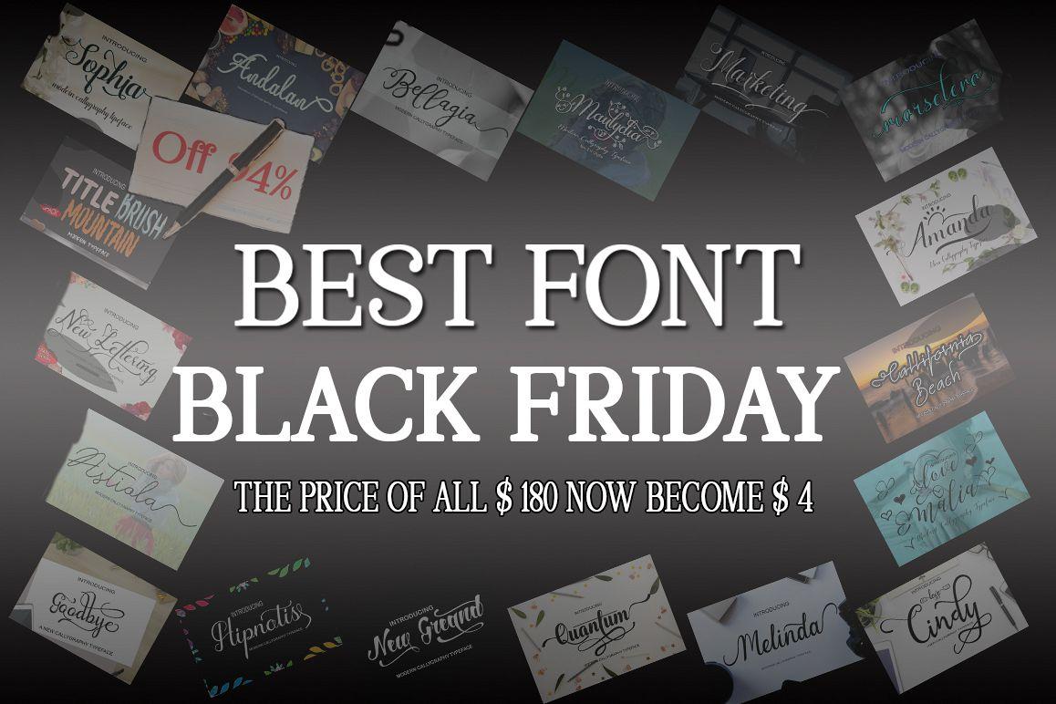 BEST FONT COLLECTION Font Bundle example image 1