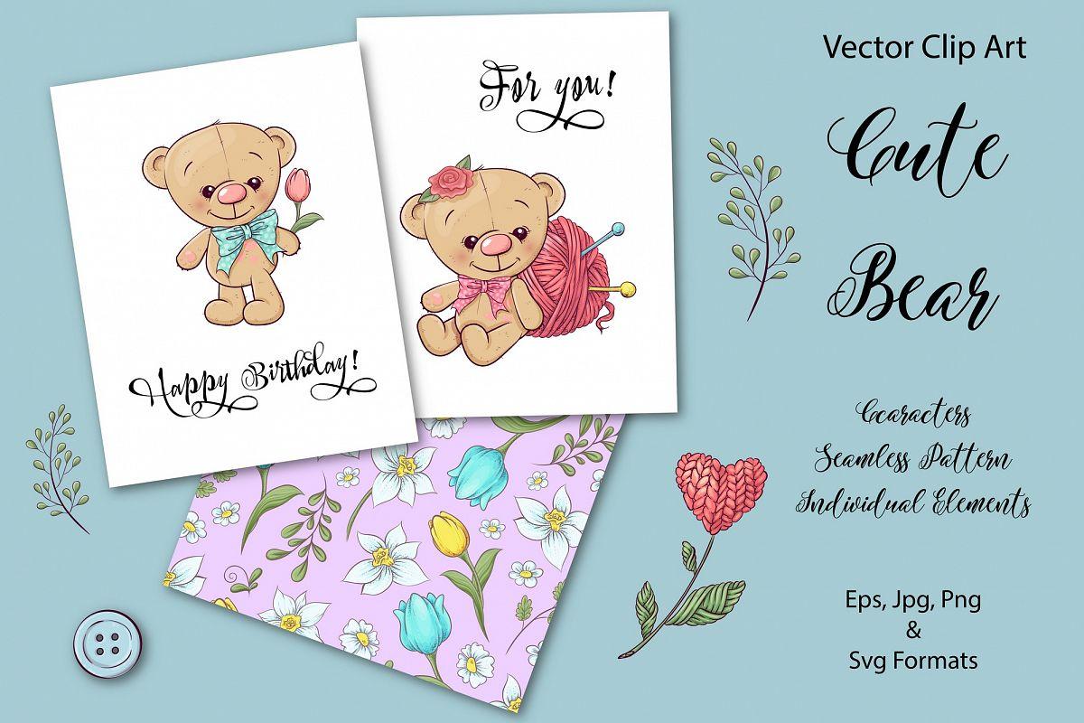 Cute Bear - vector clip art example image 1